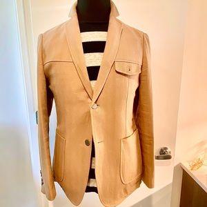 Lightweight Hopsack Tweed Linen Blazer 48R
